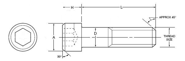 Socket Head Drawing