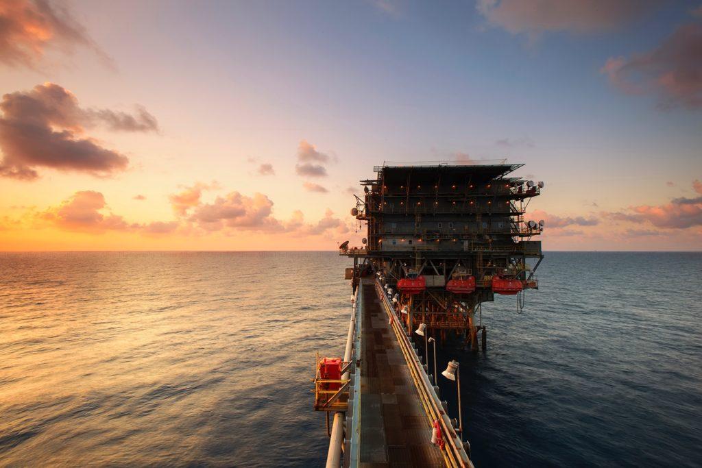oil drill in ocean
